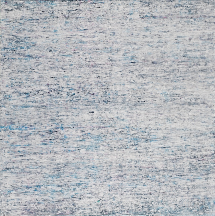 Wysses Ruusche, 2012, 130 x 130 cm, Acryl auf Baumwolle