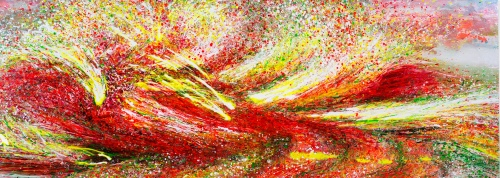 Supernatural, 2015, 80 x 220 cm, Acryl auf MDF