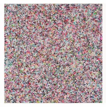Whispering, 2014, 60 x 60 cm, Acryl auf Baumwolle
