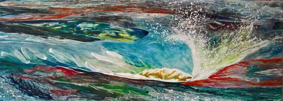 Capricious, 2016, 80 x 220 cm, Acryl auf MDF