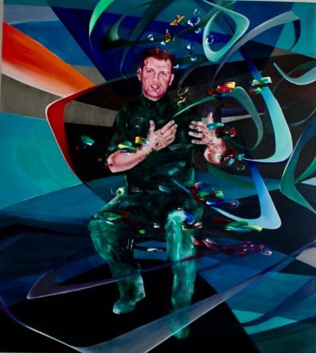 Mario Batkovic, 190 x 170 cm, Acryl und Öl auf Leinwand, Mariahilf 2017