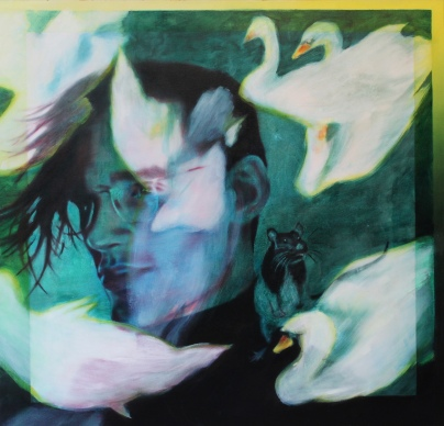 Christian, 115 x 120 cm, Acryl und Öl auf Baumwolle, Mariahilf 2017