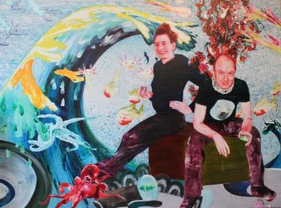 MS Bastian und Isabelle L, Acryl und Öl auf Leinwand, Mariahilf 2017