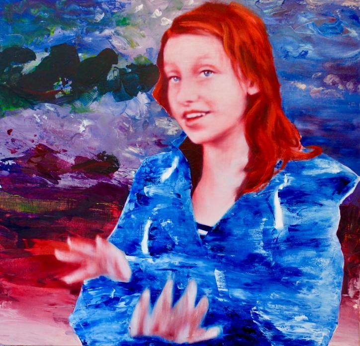 Zora, 115 x 120 cm, Acryl und Öl auf Baumwolle, Mariahilf 2017