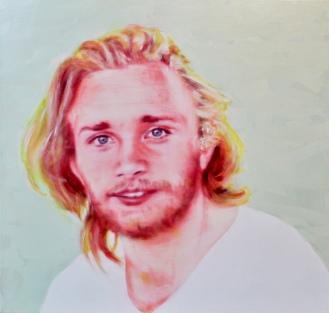 Elias, 100 x 105 cm, Acryl und Öl auf Baumwolle, Mariahilf 2017