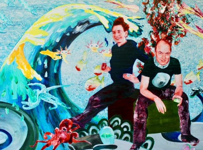 MS Bastian & Isabelle L 190 x 230 cm Acryl und Öl auf Leinwand 2017