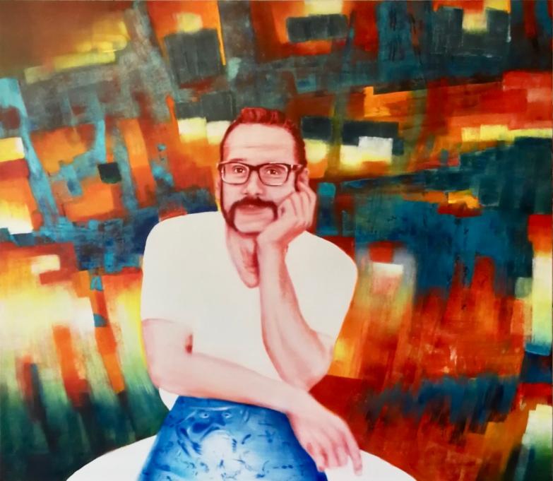 Christian Weber 140 x 160 cm Acryl und Öl auf Leinwand 2019