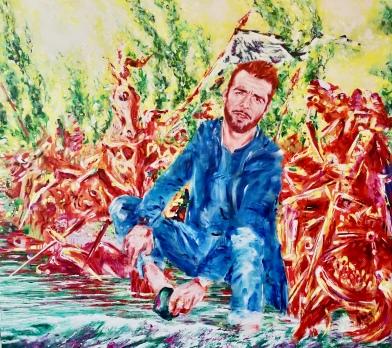 Ivan Mariano 150 x 170 cm Acryl und Öl auf Leinwand 2019
