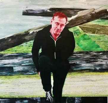 Yannick Barman 160 x 170 cm Acryl und Öl auf Leinwand 2019