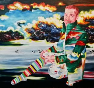 Adrian Reber 140 x 140 cm Acryl und Öl auf Leinwand 2019