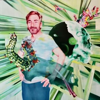 Peter Aerschmann 160 x 150 cm Acryl und Öl auf Leinwand 2019