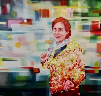 Isabelle Krieg 150 x 160 cm Acryl und Öl auf Leinwand 2019