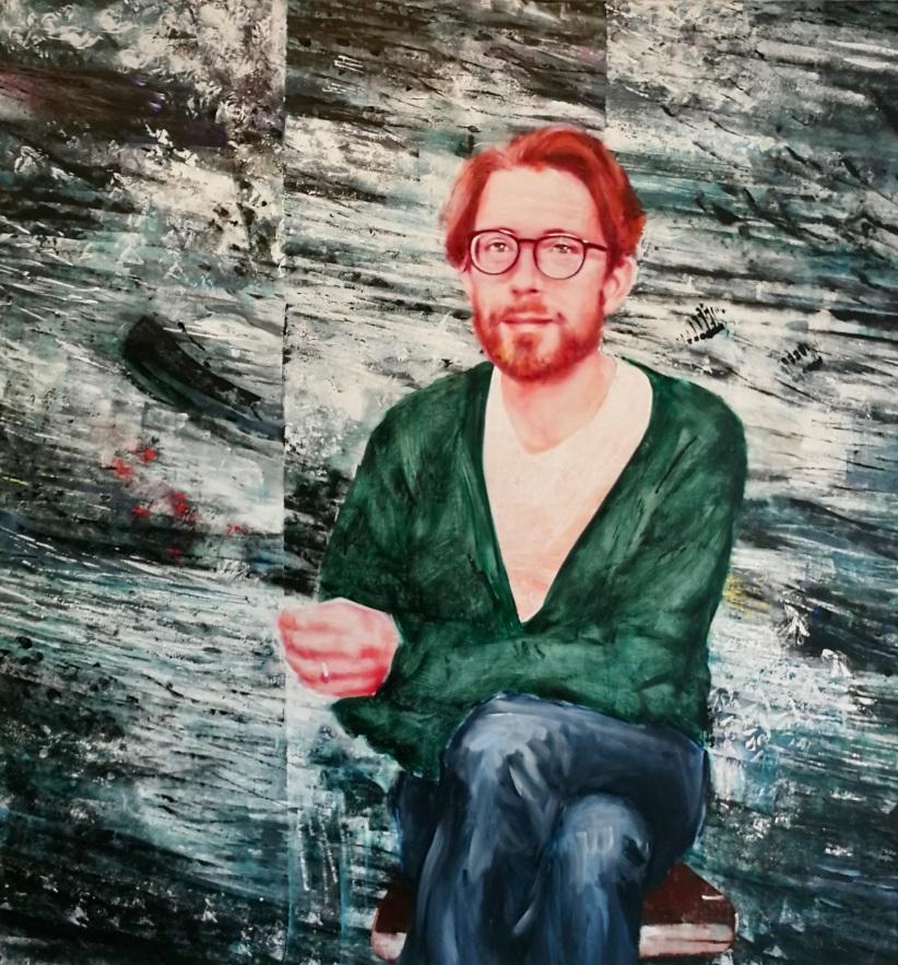 Raphael Urweider 150 x 140 cm Acryl und Öl auf Leinwand 2019